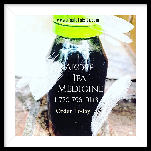 Akose IFA Medicine To remove Negative Forces