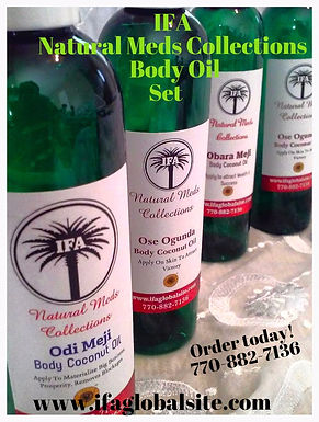 4 Set of Odu Ifa Medicine Body Oils