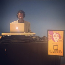 DJ Minus at the Andy Warhol Gallery Opening