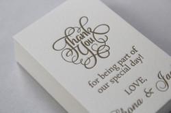 Letterpress Favours