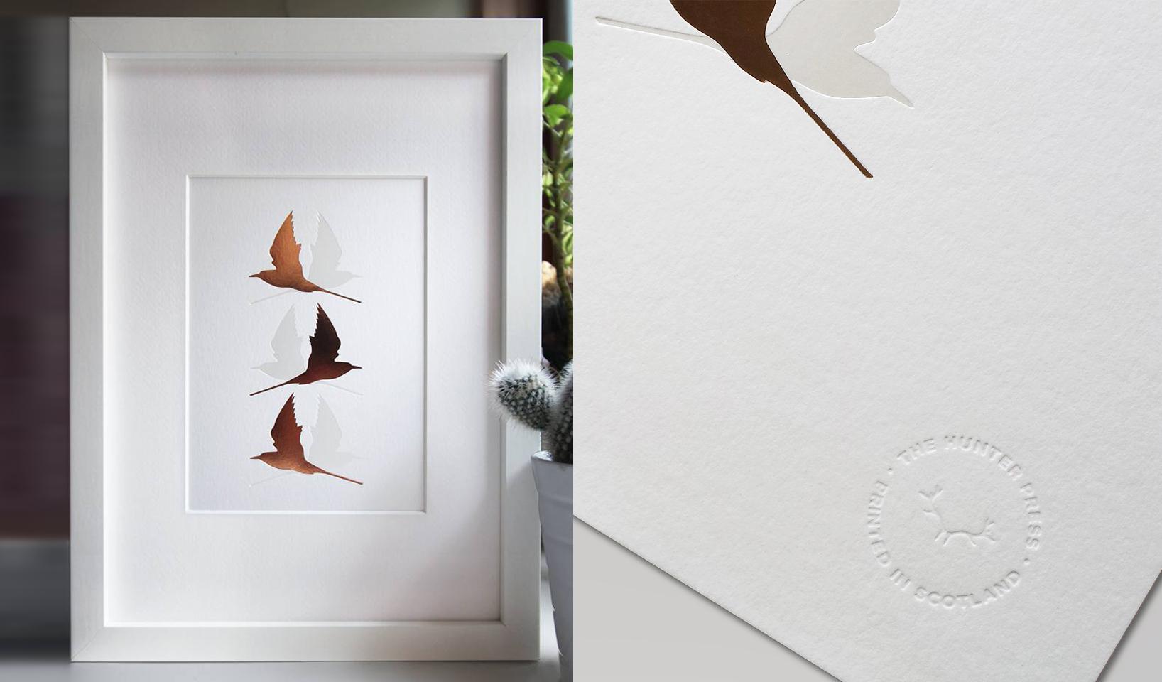 A4 Arctic Terns Print