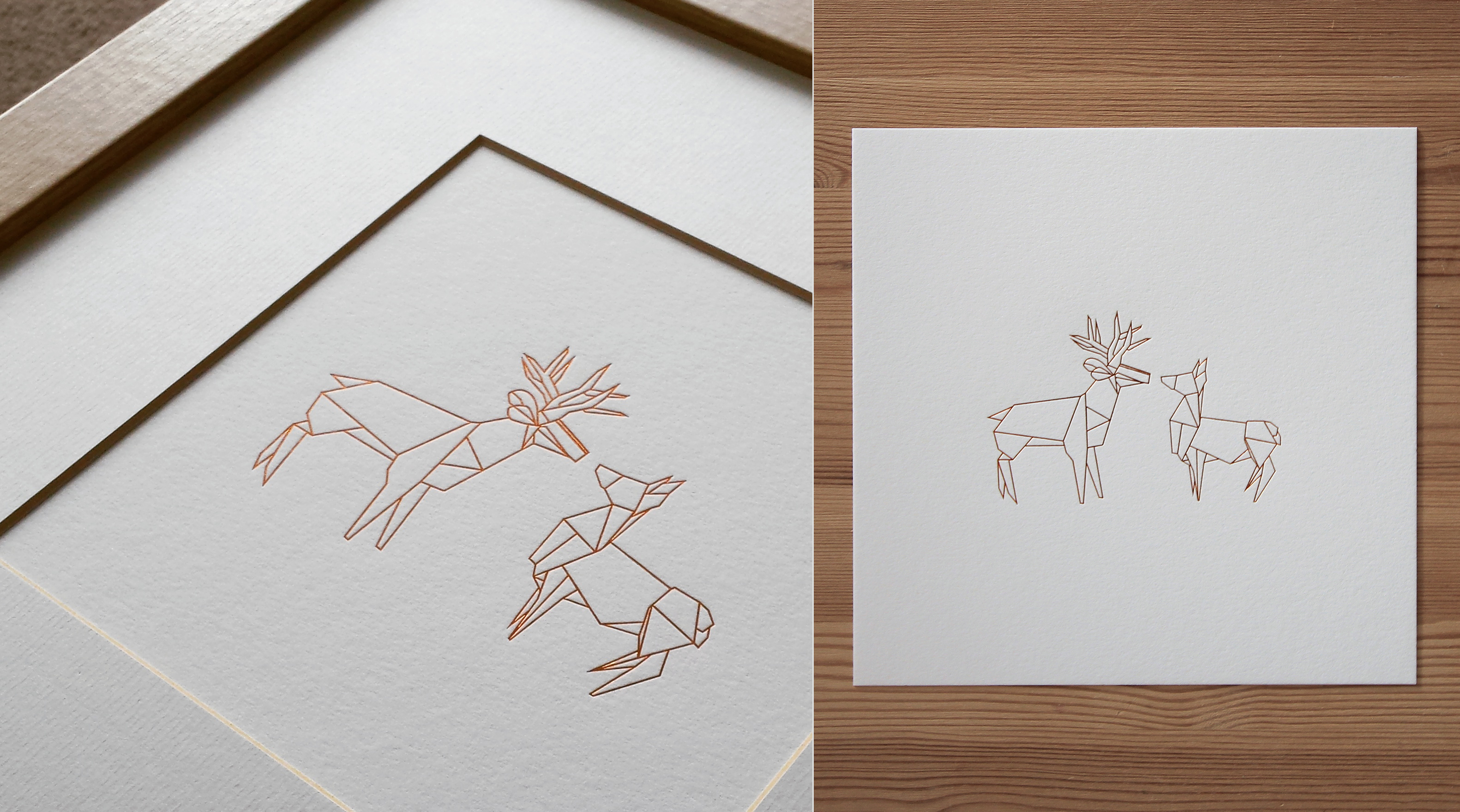 Foil Stag Print