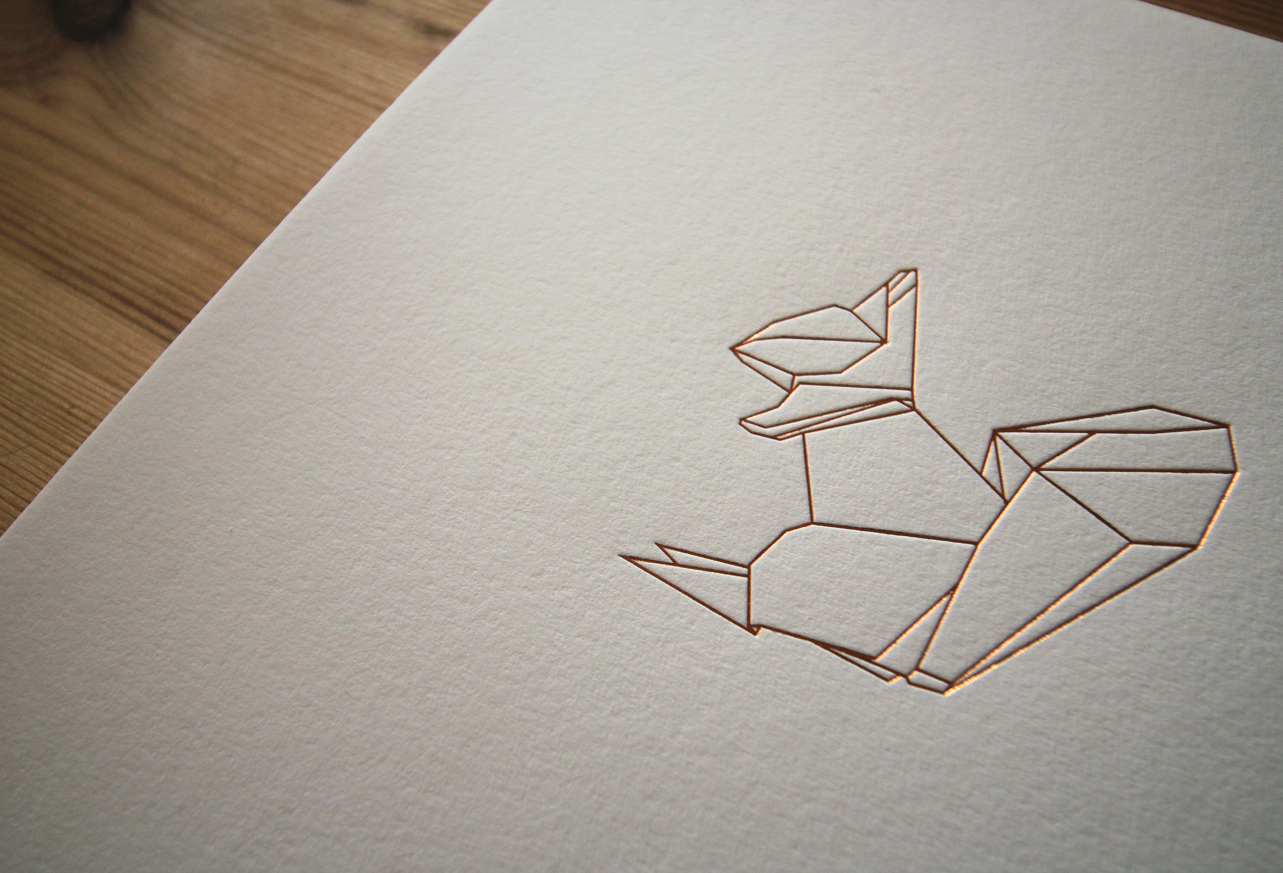 Origami Squirrel Print
