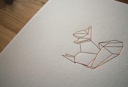 Origami Squirrel Print