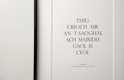 A4 Gaelic Proverb
