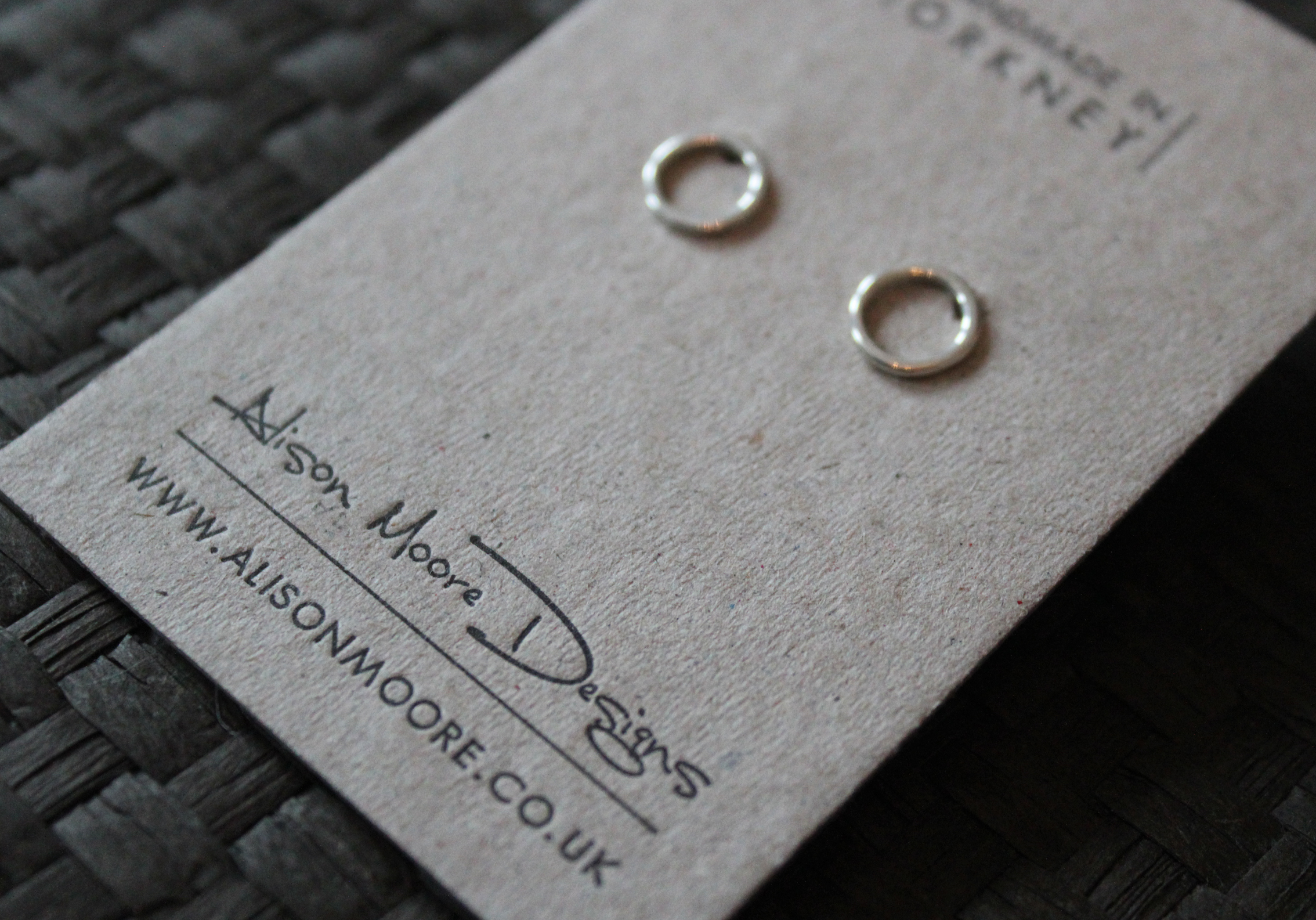 Letterpress Earring Cards