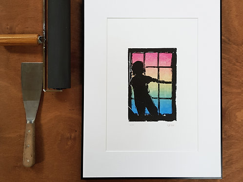 "Letterpress Wall Art Print, Rainbow Edition - ""Tomorrow"""