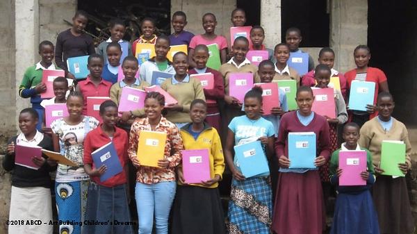 Senior students of Makomu Secondary School, Mt. Kilimanjaro