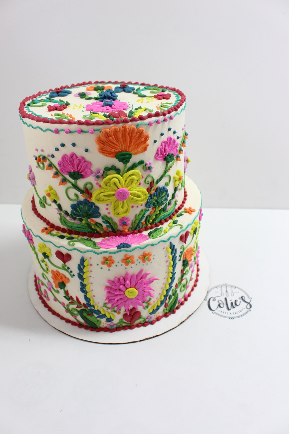 fiesta bridal shower cake