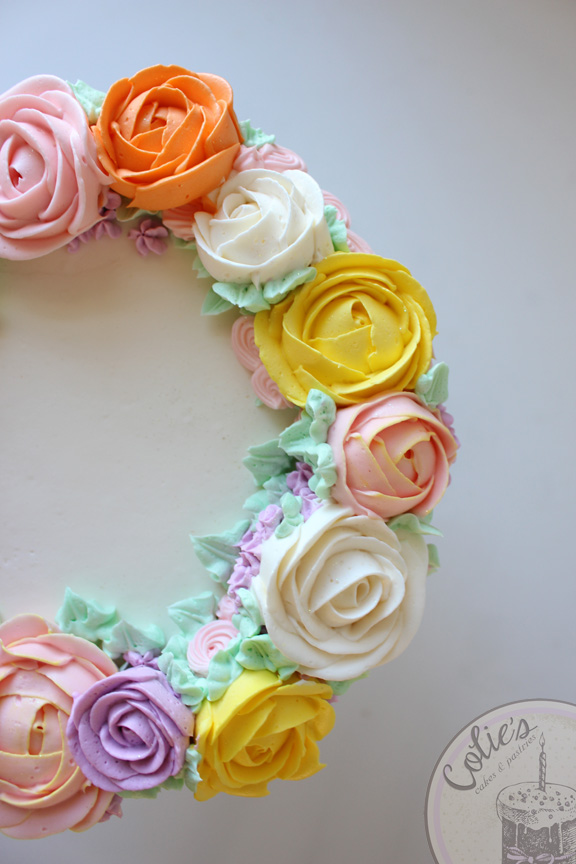 flower crown smash cake