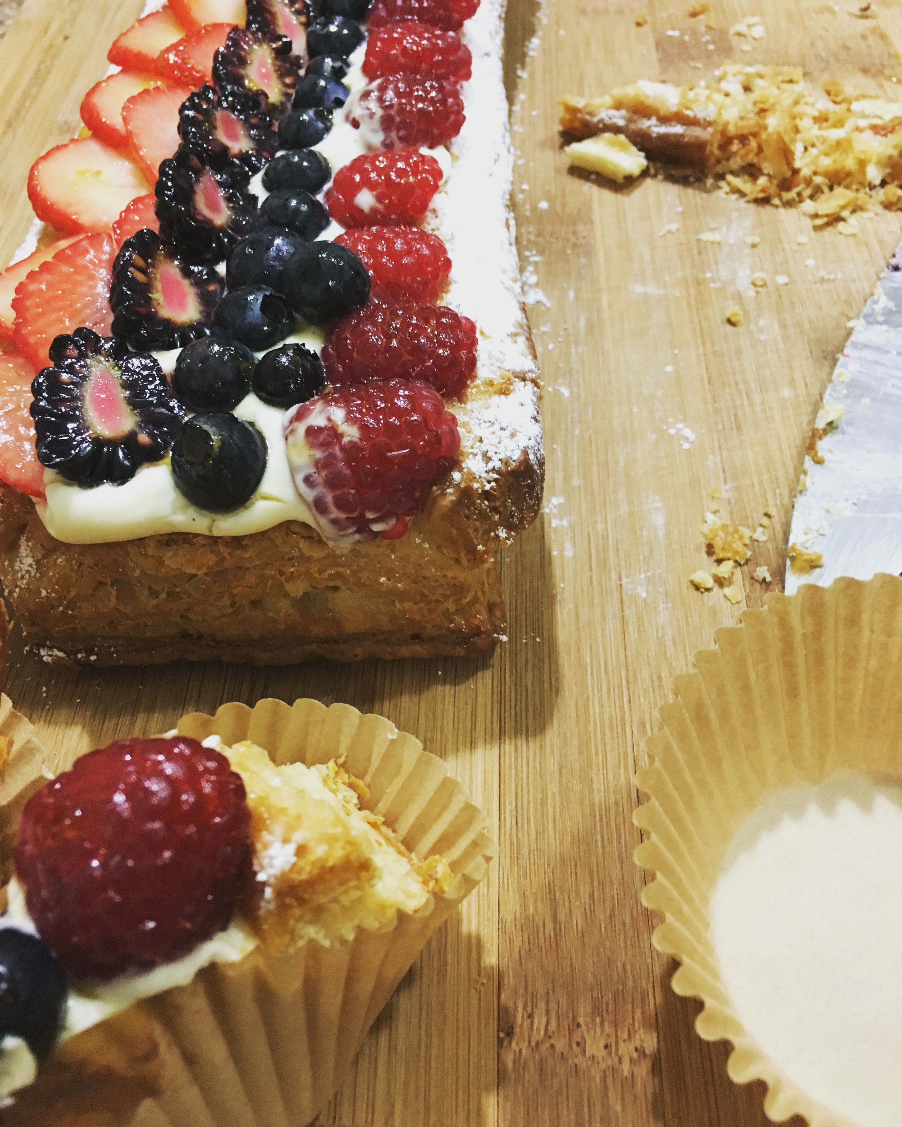 Puff Pastry Fruit Strip