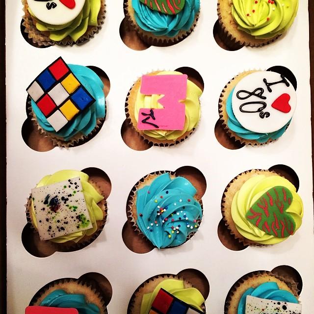 Bonco party cupcakes