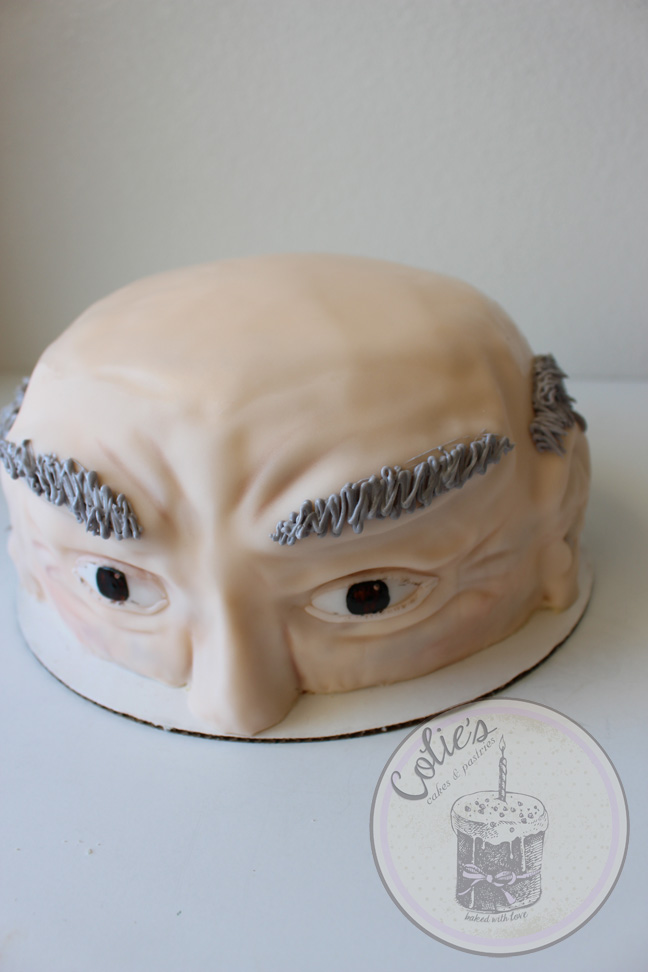 old man face cake