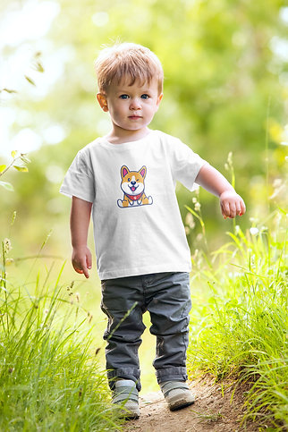 Cheerful Corgi Youth T-Shirt