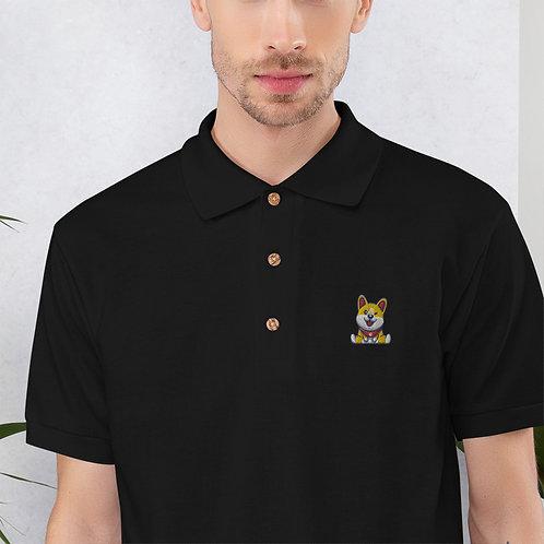 Cheeful Corgi Polo Shirt