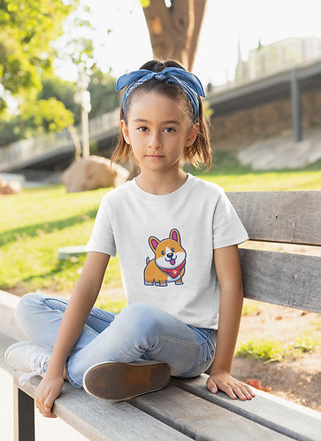 Happy Corgi Youth T-Shirt