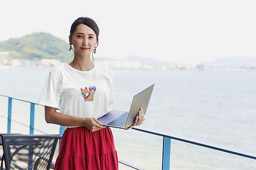 Ballooning Corgi Unisex Premium T-Shirt