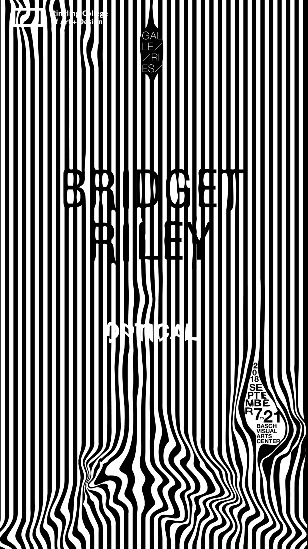 Bridget Riley Poster