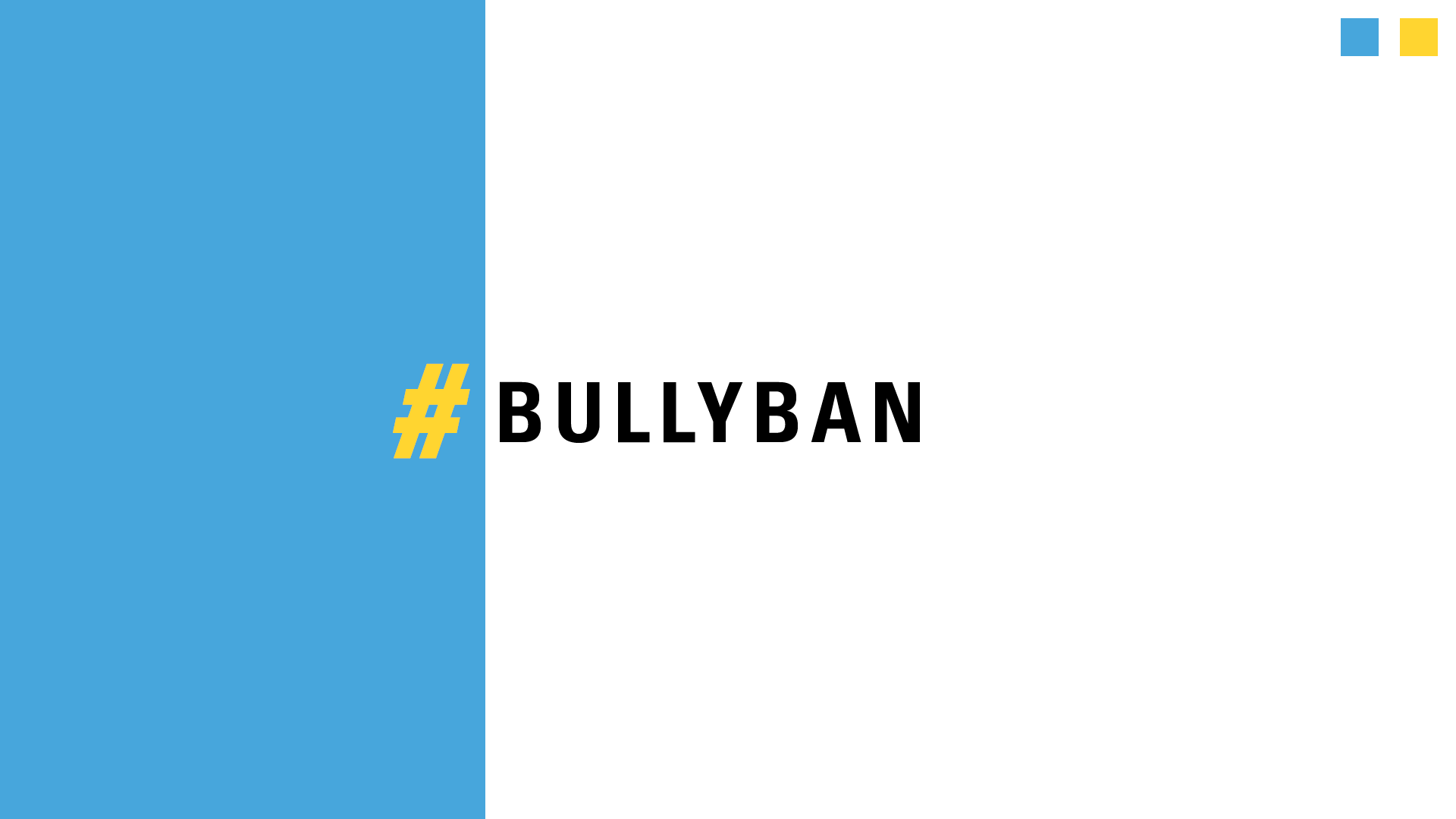 Young Shits: #BullyBan Pitch