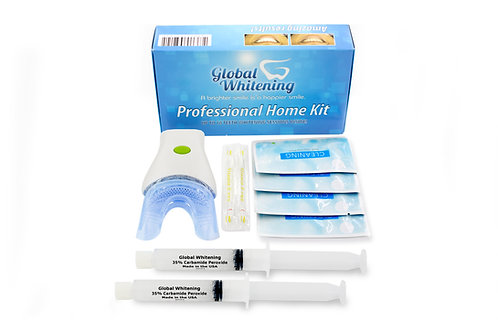 Professional Teeth Whitening Home Kit System W / 7 LED Blue Light