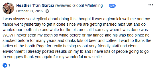 Global Whitening's Reviews