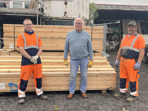Inspired donates Scaffold Boards to a truly Inspired cause.