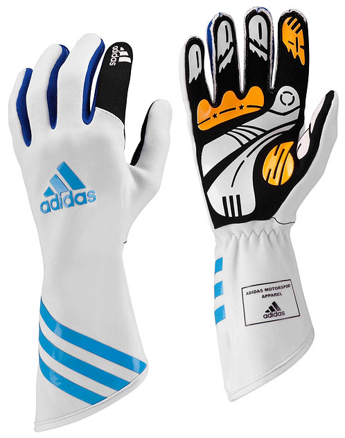 Kart KLT Glove - White/Cyan/Blue