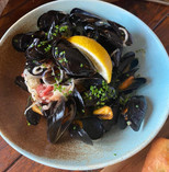 Mussels with Homemade Focaccia
