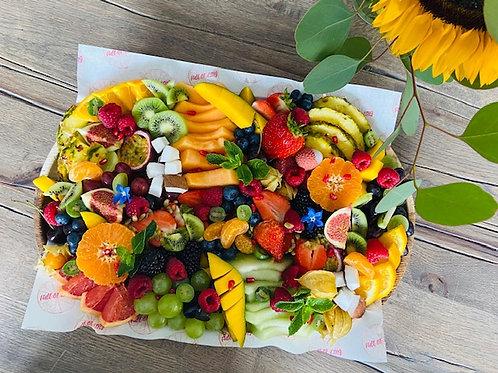 Large Fruit Palm Leaf Platter