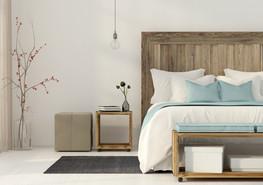 飾られた寝室
