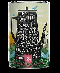 Embalagem Café Bazilli Edição Limitada 10 anos