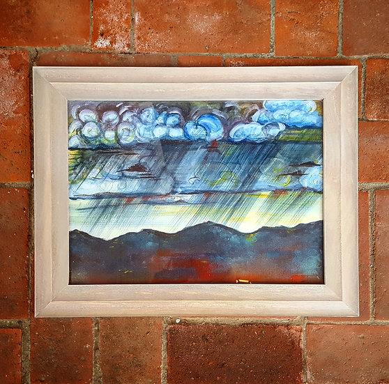 Santa Fe Rains - Framed Print