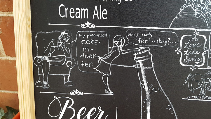 Detail of drink menu