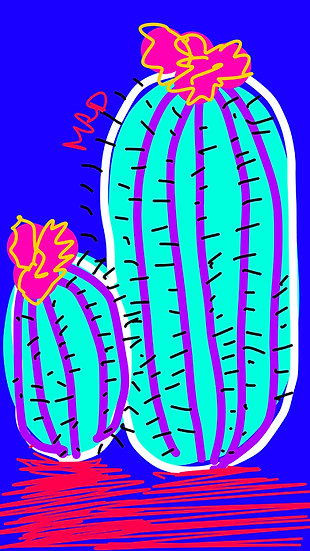 Blue Cacti