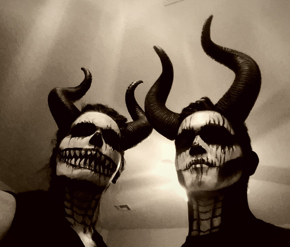 Scary facepaint for adults!