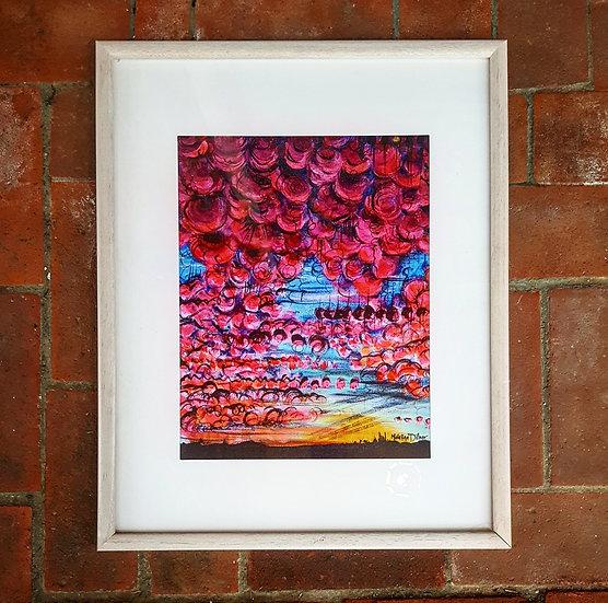 99 Red Balloons - Framed Print