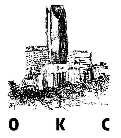 OKC Skyline - line