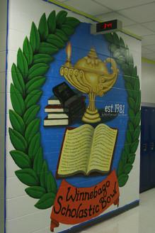 Scholastic Bowl Mural for Winnebago High School