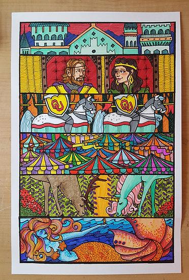 Norman Medieval Fair Poster Entry