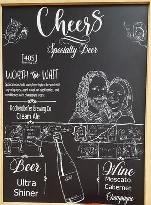 Custom drink menu for a wedding