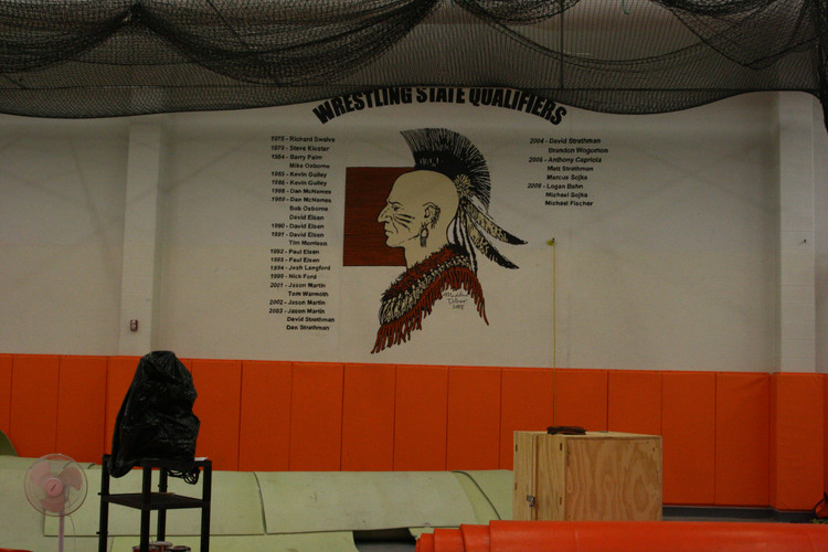 Wrestling Mural for Winnebago High School
