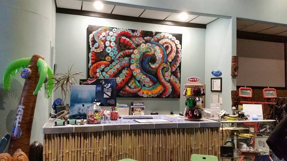 Giant Kraken for the Sea Shanty SCUBA Shop