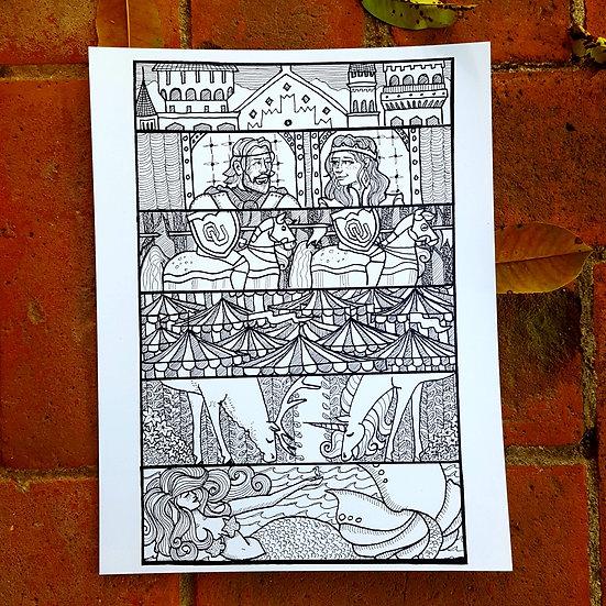 Medieval Fair 2019 Poster Entry (B&W)
