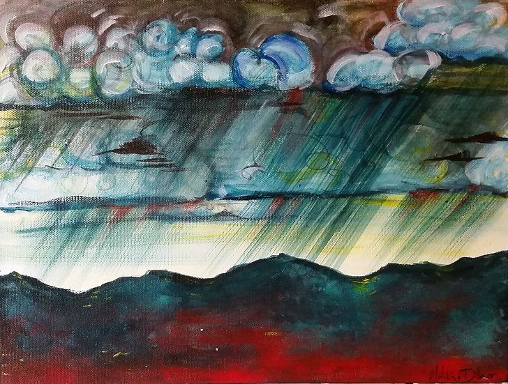 Santa Fe Rains - unframed print