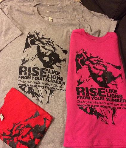 Rise Like Lions T Shirts (Adult)