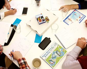 Gemeinsam Brainstorming