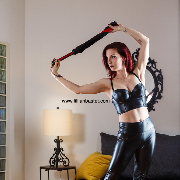 Flogging. One of My favorite forms of play. I love the movement, the dance, the exchange of energy, impact, and pleasure. To hit your skin with a heavy thud or to caress with a sensual lick up your back, I love hearing a reaction and receiving a Thank You Mistress with each stroke.