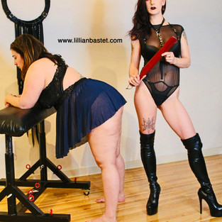 You bend over and prepare while I stroke my paddle. And don't forget to breathe, you'll enjoy this just as much as I do.