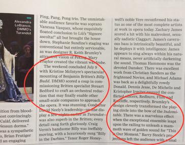 "Opera News deems McIntyre's ""Billy Budd"" at DMMO ""an extraordinary experience&quo"