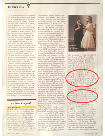 """Opera News hails Burns and Lenormand in On Site Opera's """"La mère coupable"""""""